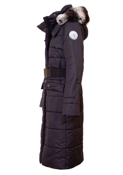 Side view of Royal alpaca winter coat